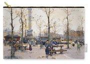 Place De La Bastille Paris Carry-all Pouch by Eugene Galien-Laloue