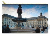 Place De La Bourse Buildings At Dusk Carry-all Pouch