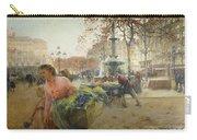 Place Du Theatre Francais Paris Carry-all Pouch by Eugene Galien-Laloue