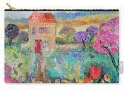 Place In The Country, 2014, Acrylicpaper Collage Carry-all Pouch