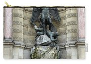 Place Saint Michel Statue And Fountain In Paris France Carry-all Pouch