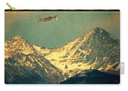 Plane Flying Over Mountains Carry-all Pouch