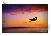 Plane Pass At Sunset Carry-all Pouch