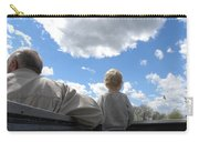 Plane Viewing From The Truck Bed Carry-all Pouch by Sheri Lauren Schmidt