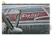 Plane Vintage Capital Airlines Carry-all Pouch by Paul Ward