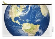 Planet Earth On White - America Carry-all Pouch by Johan Swanepoel