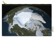 Planet Earth Showing Sea Ice Coverage Carry-all Pouch