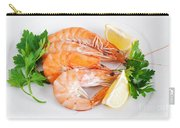 Plate With Shrimps  Carry-all Pouch