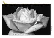 Platinum Rose Flower Carry-all Pouch