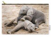 Playful Elephant Calves Carry-all Pouch
