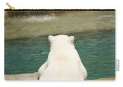 Playful Polar Bear Carry-all Pouch by Adam Romanowicz