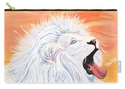 Playful White Lion Carry-all Pouch