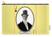 Playing Card Of Actor And Director Romain Fielding Unknown Date-2008 Carry-all Pouch