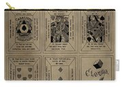 Playing Cards Patent Carry-all Pouch