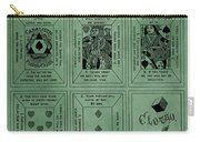 Playing Cards Patent Green Carry-all Pouch