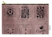 Playing Cards Patent Red Carry-all Pouch