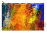 Playing With Bubbles Textured Abstract Artwork By Omaste Witkows Carry-all Pouch by Omaste Witkowski