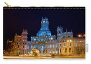 Plaza De Cibeles At Night In Madrid Carry-all Pouch