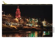 Plaza Time Tower Night Reflection Carry-all Pouch