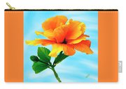 Pleasure - Yellow Double Hibiscus Carry-all Pouch