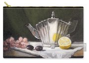 Pleated Teapot With Lemon Carry-all Pouch