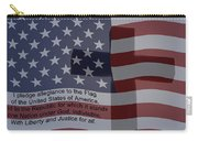 Pledge Of Allegiance Carry-all Pouch