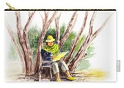 Plein Air Artist At Work Carry-all Pouch by Irina Sztukowski