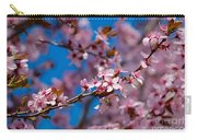 Plum Flowers And Honey Bee Carry-all Pouch