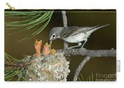 Plumbeous Vireo Feeding Chicks In Nest Carry-all Pouch