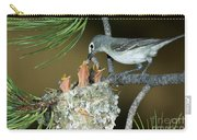 Plumbeous Vireo Feeding Worm To Chicks Carry-all Pouch