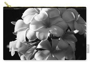 Plumeria Black White Carry-all Pouch