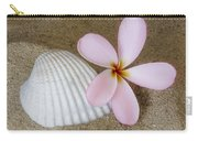 Plumeria Flower And Sea Shell Carry-all Pouch