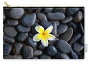 Plumeria Pebbles Carry-all Pouch