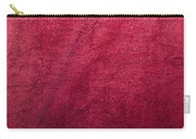 Plush Red Texture Carry-all Pouch