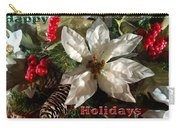 Poinsetta Christmas Card Carry-all Pouch