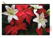 Poinsettia And Lilies Carry-all Pouch