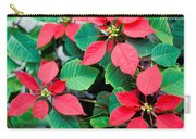 Poinsettia Flowers Carry-all Pouch