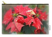 Poinsettia In Red And White Carry-all Pouch
