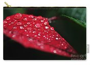 Poinsettia Leaf With Water Droplets Carry-all Pouch