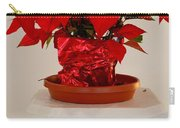 Poinsettia On A Pedestal - No 2 Carry-all Pouch