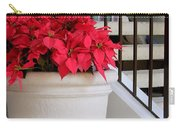 Poinsettias By The Stairway Carry-all Pouch
