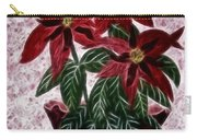 Poinsettias Expressive Brushstrokes Carry-all Pouch