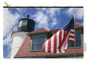 Point Betsie Lighthouse With Flag Carry-all Pouch