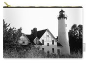 Point Iroquois Lighthouse In B/w Carry-all Pouch