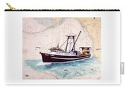 Point Loma Trawl Fishing Boat Nautical Chart Map Art Carry-all Pouch