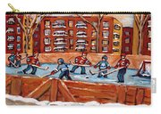 Pointe St. Charles Hockey Rink Southwest Montreal Winter City Scenes Paintings Carry-all Pouch