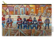 Pointe St. Charles Hockey Rinks Near Row Houses Montreal Winter City Scenes Carry-all Pouch