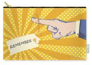 Pointing Finger Pop Art Vector Carry-all Pouch
