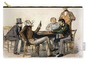 Poker Game, 1840s Carry-all Pouch