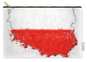 Poland Painted Flag Map Carry-all Pouch